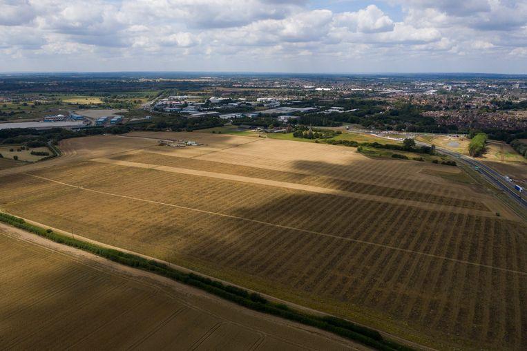 De grond is staatseigendom. Er zou eerst een opslag komen. Beeld Foto Dan Kitwood/Getty Images