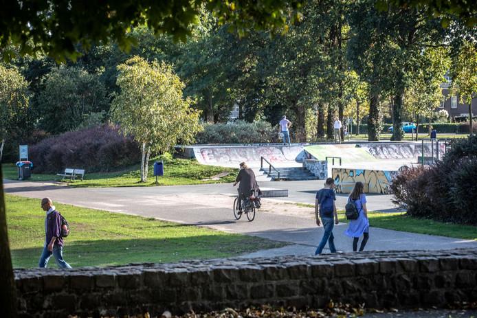 Het park gistermiddag.