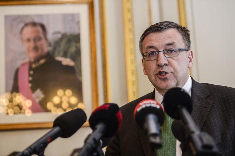 Minister van Financiën Steven Vanackere (CD&V) maakte in de voormiddag bekend dat hij de federale regering verlaat. Beeld BELGA