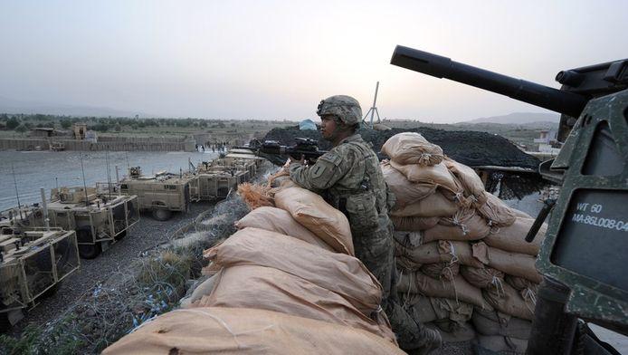 Een Amerikaanse commandopost in het oosten van Afghanistan.