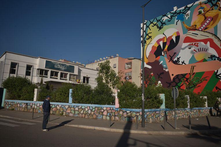Graffiti in Casablanca.   Beeld Yassine Toumi