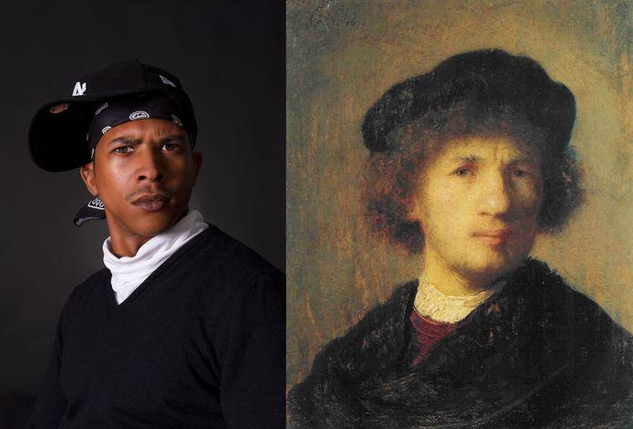 Zelfportret van een jeugdige Rembrandt