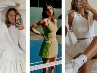 Plooirokjes, witte sokken en poloshirts: Vogue roept 'tenniscore' uit tot de nieuwste modetrend