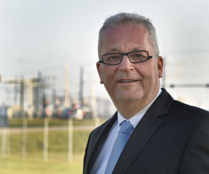 Jan Lagasse van North Sea Port, één van de sprekers op het symposium in Sas van Gent.
