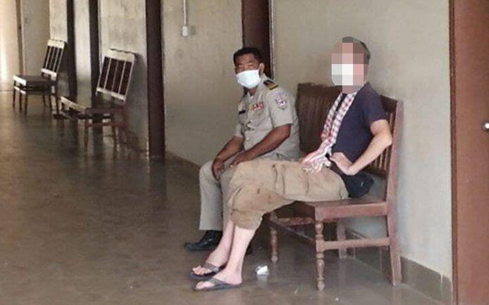 De vijftiger is opgesloten in de gevangenis van Siem Reap City.