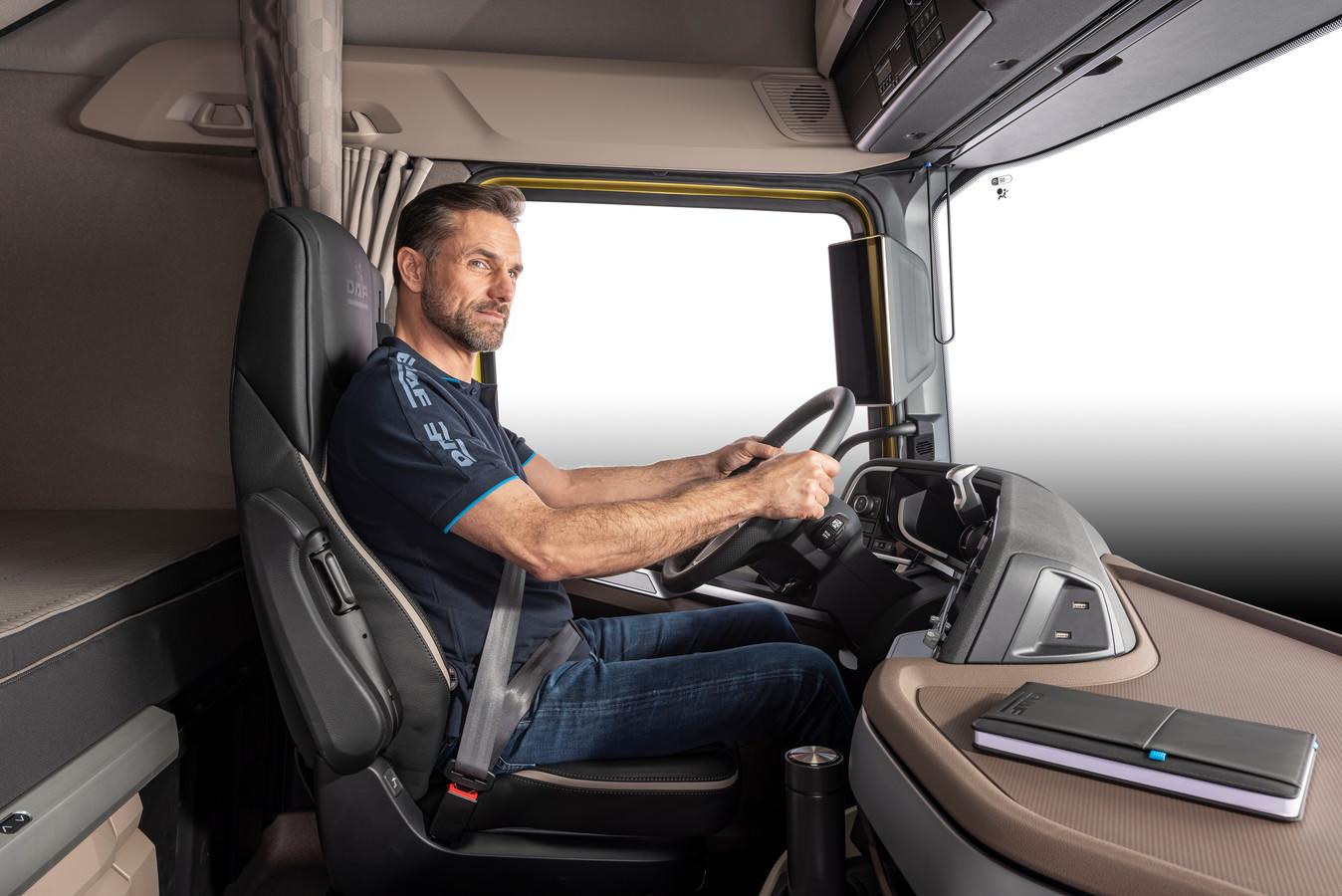 Interieur van de nieuwe generatie DAF-trucks.
