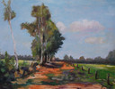 Het winnende schilderij: Zandpad op Cartierheide