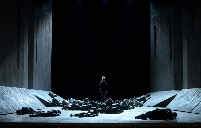 Scenefoto van Aida, opgevoerd in Parijs.