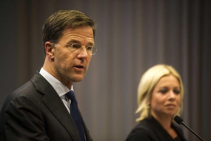 Premier Mark Rutte en minister Jeanine Hennis