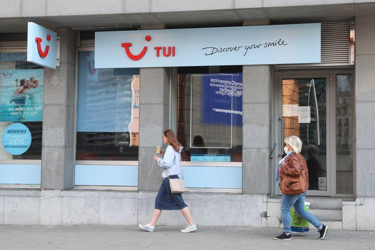 Een reisbureau van TUI in Brussel.