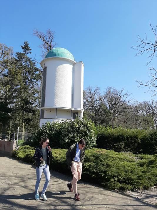 Het Dr. A.F. Philips Observatorium, de sterrenwacht in het Stadswandelpark in Eindhoven.