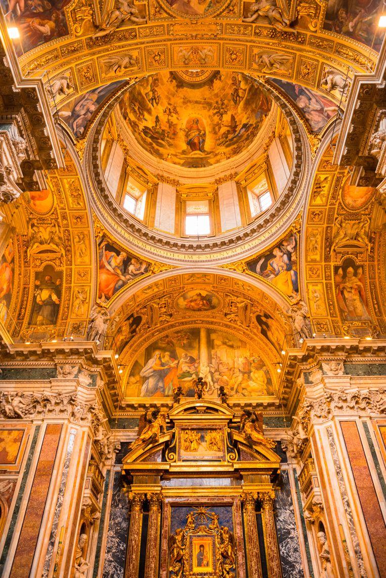 Altaar in de Basilica di Santa Maria Maggiore in Rome. Beeld Getty