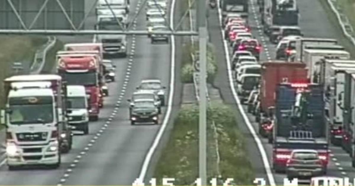 Opnieuw ongeluk op A15 bij Geldermalsen.