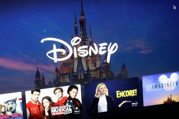 Het menu van Disney+.