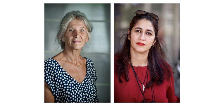 Gertie Driessen (l.) en Baharak Bashar. Beeld Annabel Oosteweeghel / Eric De Mildt