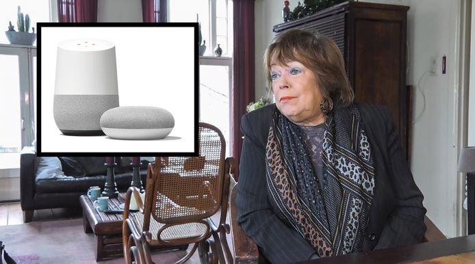 Mary van Vught met haar slimme speakers