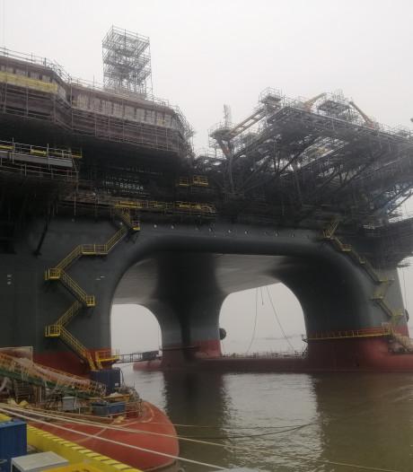 Motoren van nieuwe kolos van offshorebedrijf OOS International ronken