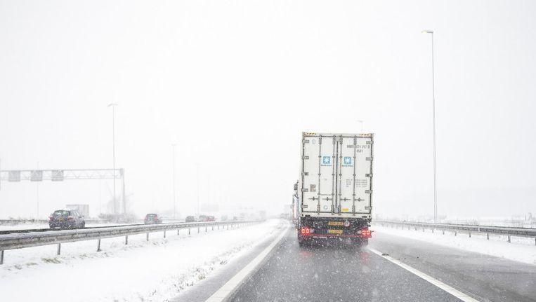 De Franse weerdienst verwacht veel sneeuwval op vrijdagnacht en zaterdagochtend. Beeld anp