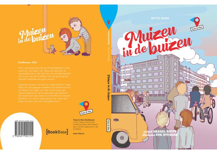 Omslag van Muizen in de buizen, van de hand van schrijver Hessel Rippe en illustrator Eva Oyevaar.