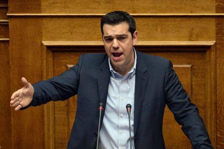 De nieuwe Griekse premier Tsipras. Beeld ANP