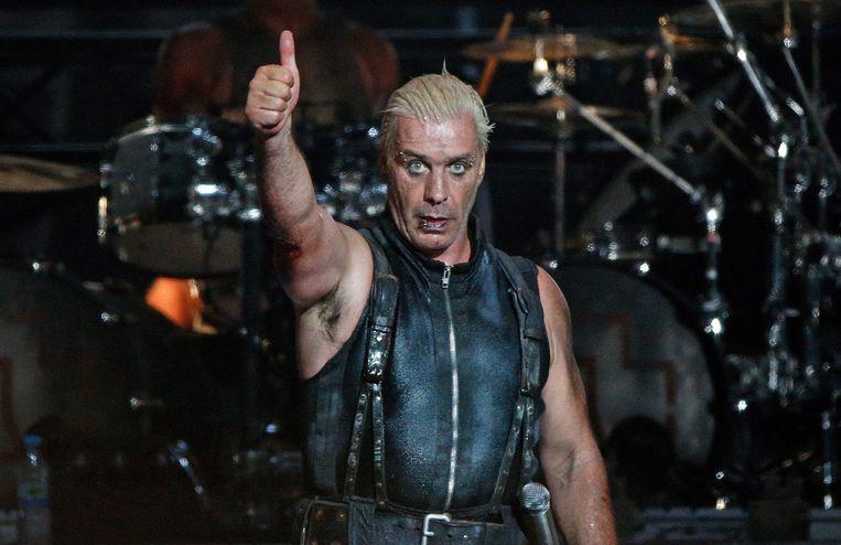 Frontman Till Lindemann van de Duitse rockband Rammstein. Beeld EPA