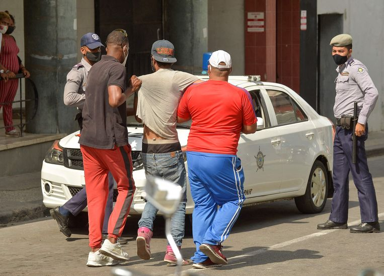 Er werden meerdere arrestaties verricht. Beeld AFP