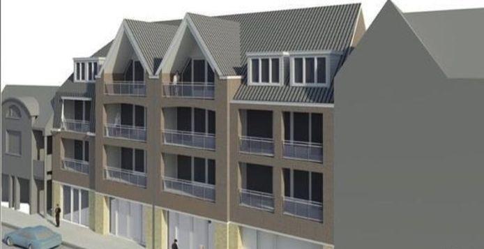 Een impressie van het nieuwe wooncomplex aan de Burg. Wijnenstraat in Asten