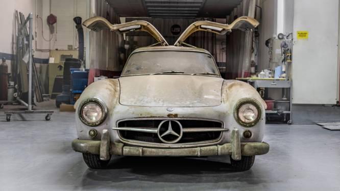 Mercedes die 60 jaar in stoffige garage staat, blijkt meer dan 1 miljoen euro waard