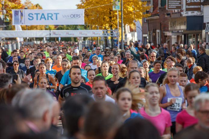 Sfeerbeeld tijdens de editie van de Van Oers Marathon in 2015. Helaas voor de vele liefhebbers gaat ook de marathon dit jaar weer niet door vanwege corona.