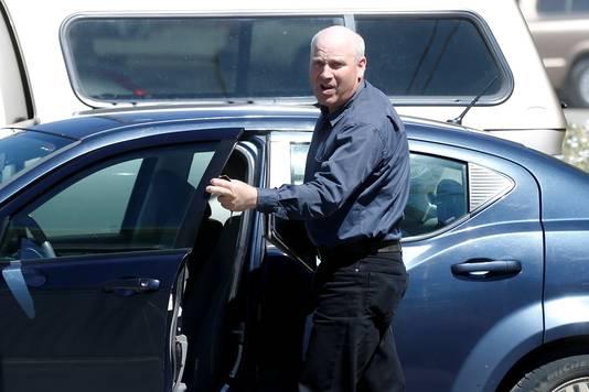 James Oler bij de rechtbank in Cranbrook, in Canada.