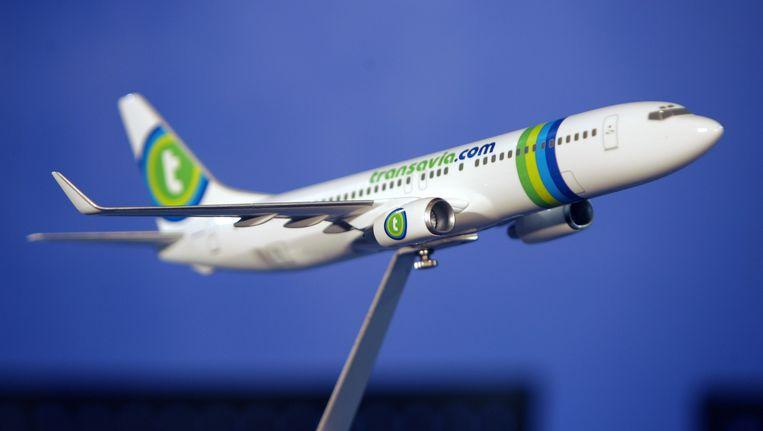 Een model van een Transavia-vliegtuig. Beeld AFP