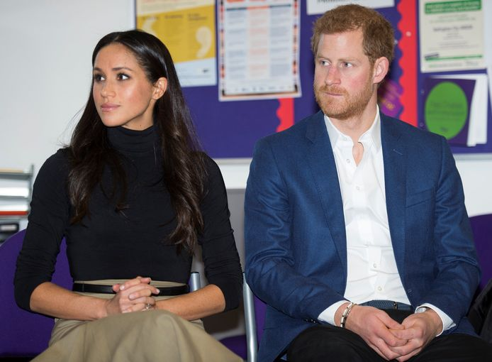 Prins Harry en zijn echtgenote Megan Markle.