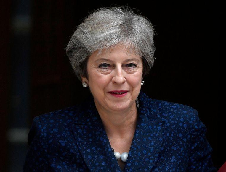 De Britse premier Theresa May. Beeld Thomson Reuters