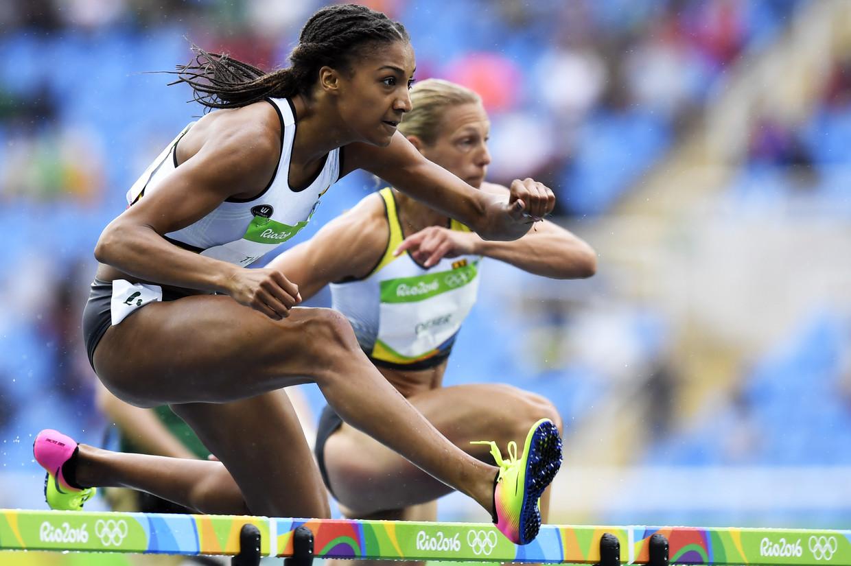 Nafi Thiam op de Olympische Spelen van 2016 in Rio De Janeiro. Beeld BELGA