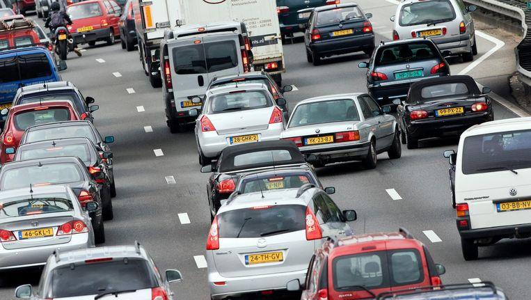 Verwachte verkeerschaos op de A1 blijft uit. Beeld anp