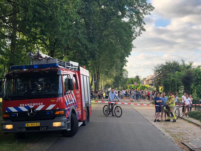 De brand in Eerbeek trok veel bekijks
