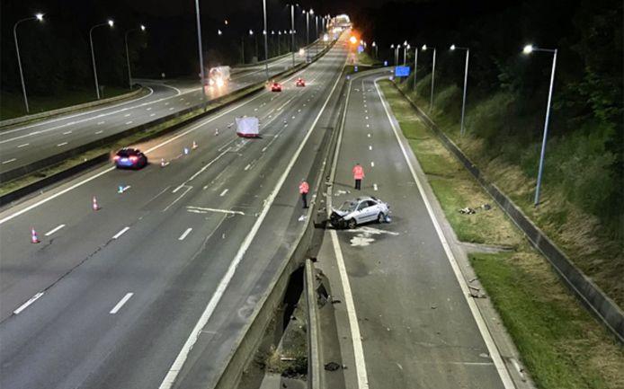 Het ongeval gebeurde op de E40 ter hoogte van de afrit Blegny bij Luik.
