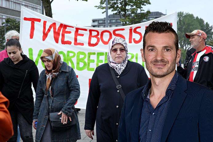 Huurders uit de Tweebosbuurt protesteren tegen huisuitzetting door verhuurder Vestia.