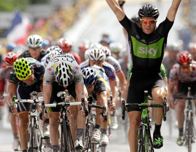 Edvald Boasson Hagen zorgde op 7 juli 2011 voor de eerste Touroverwinning van Team Sky. Later zouden er nog 16 volgen voor de Britse wielerformatie.