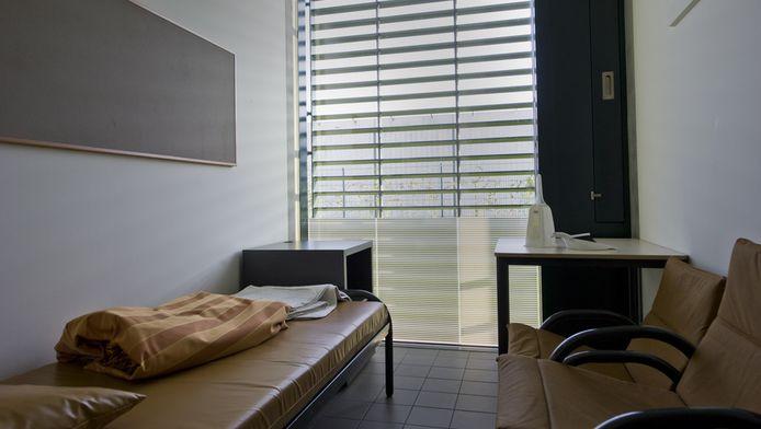Een cel op de afdeling verslavingen in het forensisch psychiatrisch centrum Oostvaarderskliniek in Almere.