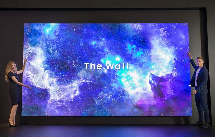 The Wall, Samsungs concept van een microledscherm voor professionele doeleinden. Het duurt nog wel eventjes voordat zulke schermen er komen in een consumentenproduct.