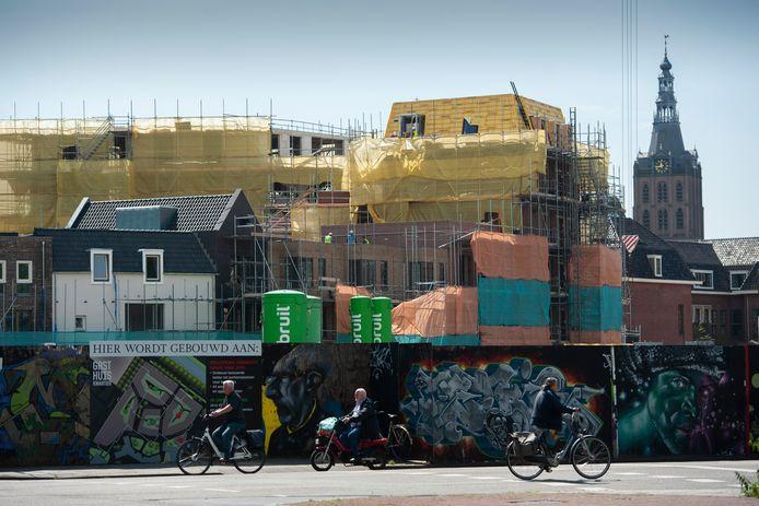 Nieuwbouw in het Gasthuiskwartier, het voormailg GZG-terrein in de binnenstad