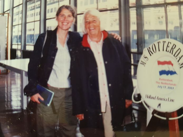 Liesbeth en haar moeder.