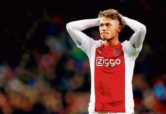 Viktor Fischer in het shirt van Ajax.