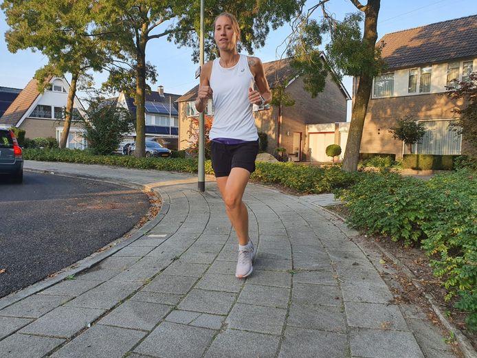Inge Klaazen tijdens een trainingsronde.