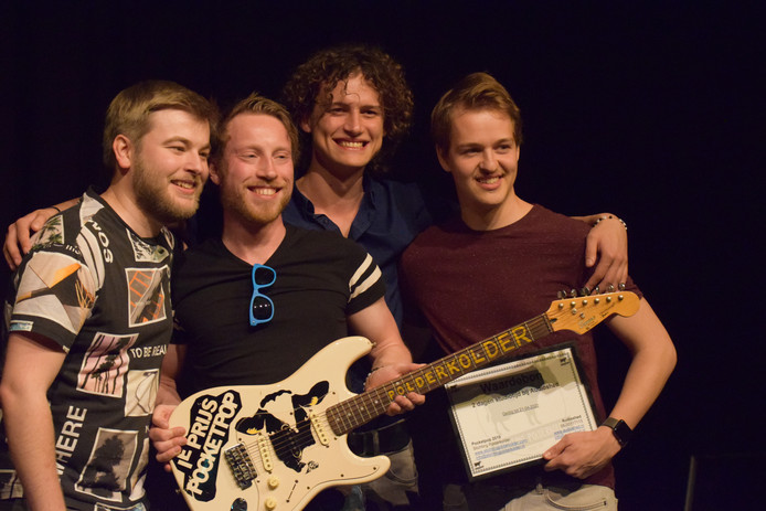De winnaars van Pocketpop: de Zaltbommelse rockband Spark of Sanity.