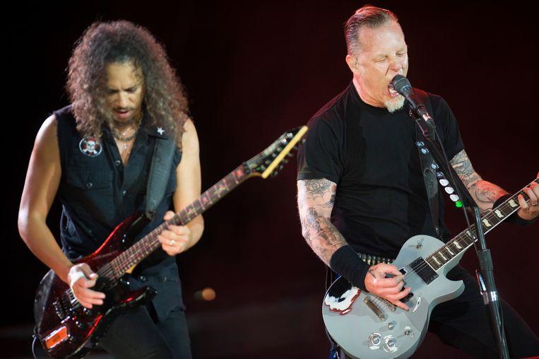 Metallica rock werchter 2009 Beeld Alex Vanhee