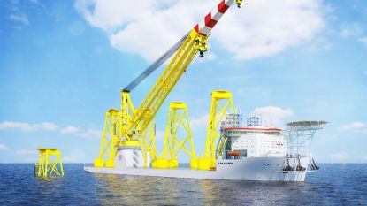Jan De Nul Group bestelt tweede megaschip om windturbines van 270 meter te installeren