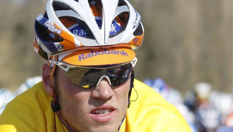Was dit de laatste dag voor Lars Boom in het geel? Foto EPA Beeld