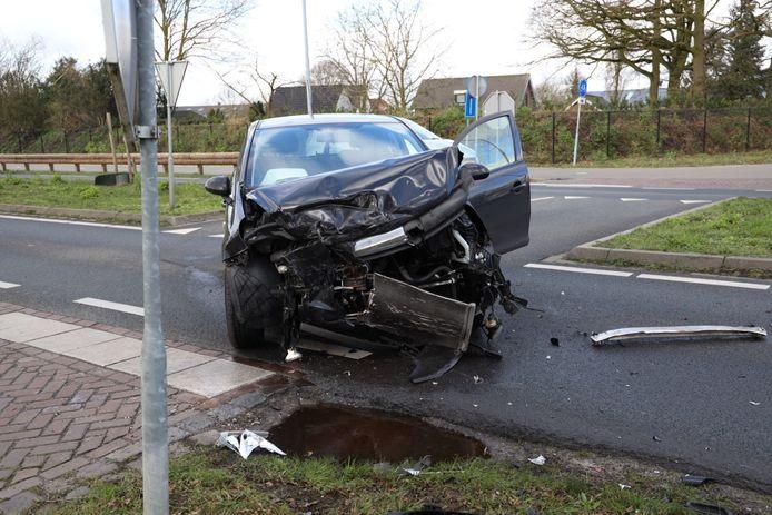Twee gewonden bij een ongeluk in Uden.